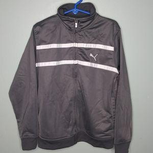 Puma Full Zip Athletic Track Style Jacket